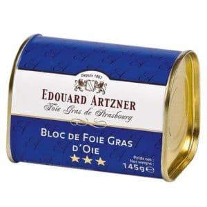 EDOUARD ARTZNER BLOC FOIE GRAS D´OIE LATA 145GR