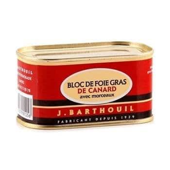 BARTHOUIL BLOC DE FOIE CANARD AVEC MORCEAUX 130GR