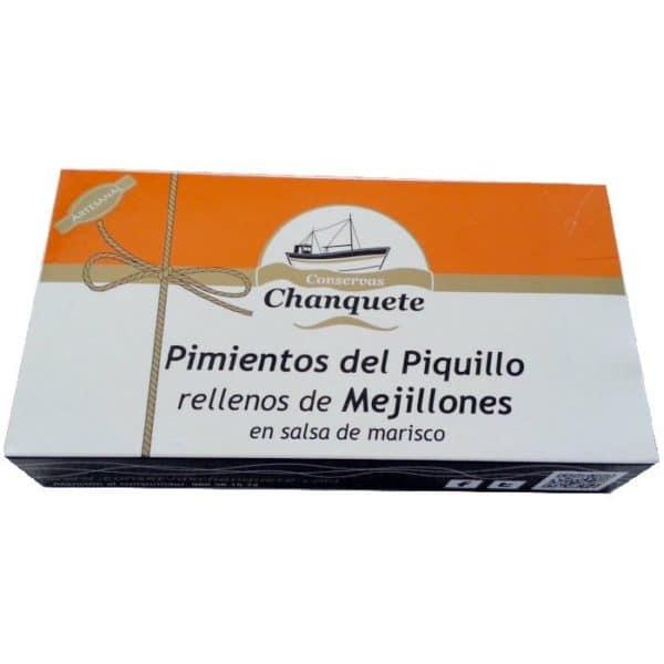 PIMIENTOS RELLENOS DE MEJILLON Y MARISCO 250GR CONSERVAS CHANQUETE