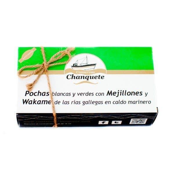 CHANQUETE POCHAS CON MEJILLON Y WAKAME